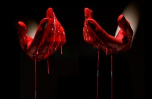 Blood hands