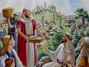 Jesus loaves and fishes