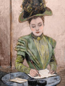 Lady writing pen