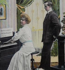 Woman piano