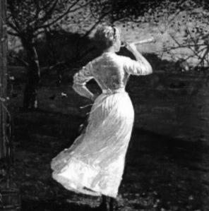 Woman bugle