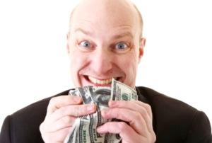 Greed used car salesman